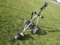 Powakaddy electric golf trolley good working order, with battery charger but no battery.