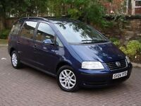 EXCELLENT DIESEL 7 SEATER!!! 2004 VOLKWAGEN SHARAN 1.9 TDI PD CARAT 5dr, 1 YEAR MOT, WARRANTY