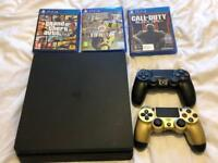 PS4 Slim 1 TB with 2 controllers & 3 games