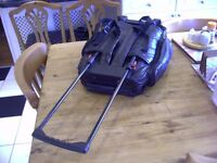 Suitcase. Small Airplane Bag, Rucksack, Holdall. Overnight Bag. Wheels, 48 x 40 x19 cm. Luggage Nice