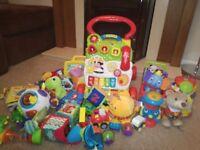 A job lot of kids toys