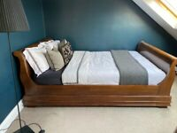 Indonesian sleigh bed