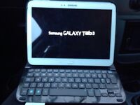 Samsung tab 3 16gb wifi with wireless Logitech keyboard