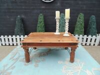 SOLID MEXICAN WOOD LARGE COFFEE TABLE VERY SOLID TABLE AND IN VERY GOOD CONDITION