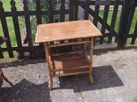 Wicker and Bamboo Table in great Condition Delivery Available