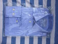 Unopened Charles Tyrwhitt blue and white shirt. 15.5 inch collar. Brand new.