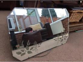 Antique bevel edged mirror