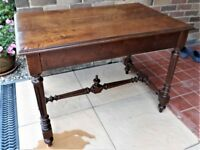 Early 20th C, French Solid Chestnut Wood Table