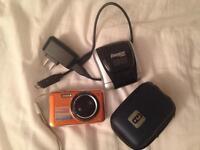 Orange Samsung digital camera