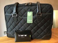 "Knomo 15"" Sylvia Padded Laptop Handbag in Black"