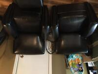 2 leather chairs