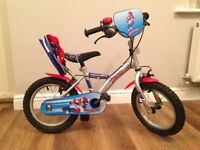 Apollo Rocketman 14 inch boys bike with removable stabilisers- good condition