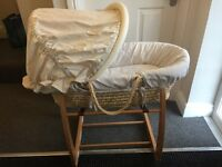 Mamas & Papas Moses Basket with Rocking Stand