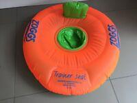 Zoggs swim ring/trainer seat 3-12 Months (orange)