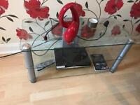 Glass table/tv unit