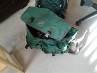 Fishing Bag, adjustable rod, 2 nets and waterproof pants