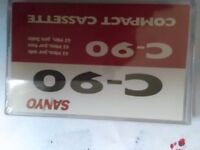 Sanyo standard cassette tapes blank for sale