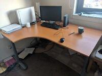 Large Ikea Galant Corner Desk For Sale