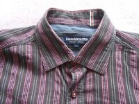 Lambretta Striped Short Sleeve Shirt (Large)