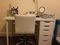 Must go by Friday. Dressing table and swivel chair