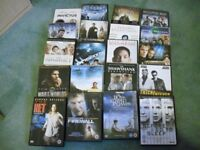 Twenty DVDs with a mix of action, adventure and based on true stories. All in very good condition.
