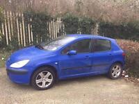 Peugeot 307 5 door 2.0 diesel 5 speed manual blue £499 ono