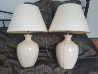 Set of 2 vintage lamps from Allders