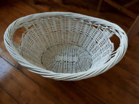Large white laundry basket