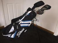 Titleist Golf Bag with full Set of clubs (Callaway and Wilson)