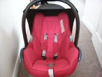 Maxi Cosi CabrioFix car seat - red