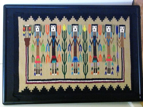 "Navajo Wool Yei Corn Pictorial Rug from the Heard Museum 23"" X 34"""