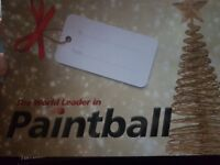Paintball ticket with 1000 free paintballs, you can invite 10 your friends. Valid until December