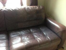 Purple Leather Sofa