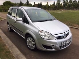 2009 (09) VAUXHALL ZAFIRA LIFE 1.9 CDTI 120BHP SILVER S/H A/C LOW MILES DRIVES GOOD 6 SPEED LONG MOT