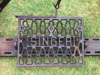 Vintage industrial model cast iron singer sewing machine base