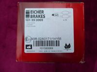 Brake Pads for Ford Fiesta, Ka, Courier Eicher Brakes Part No. 101590069 set of 4