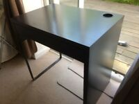 Black Ikea MICKE Small Desk, no marks or scratches, single drawer