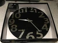Black mirror wall clock - new in box! Selling at 1/2 price!