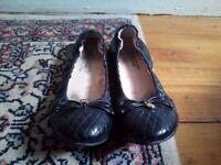LK Bennett black leather pumps size 4.5