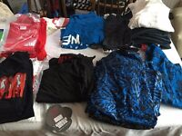"""Job Lot of Gorilla Fitness Clothing and """"Future Body"""" T shirts RRP in Total £700"""