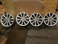 """17"""" genuine Audi TT ats alloy wheels as new wide stance 5x112 A4 golf a6 A3 Jetta Passat"""