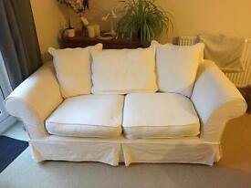 Two / three seater 'Laura Ashley style' cream sofa