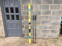 Rossignol Skis and Sticks with bag Made in Spain