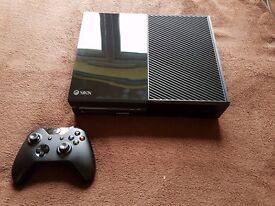 Microsoft Xbox One 500 GB Black Console, used twice!