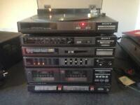 Retro Sony 1980s Hifi with record player