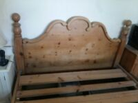 Old solid pine bed