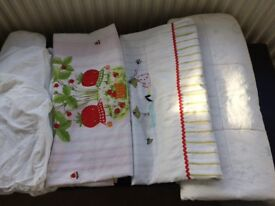 Cotbed duvet and bedding