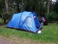 Aura Elite 3 tent and camping gaz stove for sale
