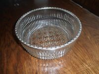 Used almost New patterned glass salad /dessert dish