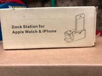 Bamboo wood iPhone and iwatch charging desk holder